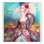 MADAME POMPADOUR ,Classy Gold Costume Party Personalized Announcement