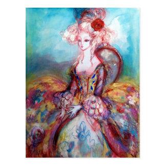 MADAME POMPADOUR / Elegant Beauty Fashion Postcard