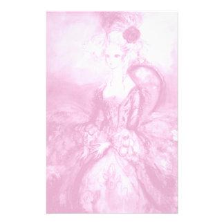 MADAME POMPADOUR ,soft  pink white Stationery