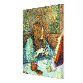 Madame Poupoule at her Toilet, 1898 Canvas Print