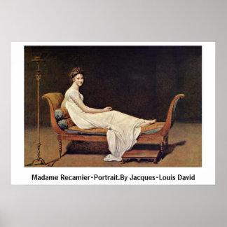 Madame Recamier-Portrait.By Jacques-Louis David Poster