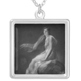 Madame Recamier Silver Plated Necklace