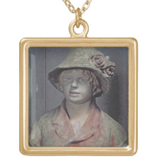 Madame Renoir, 1916 (polychrome plaster) Gold Plated Necklace