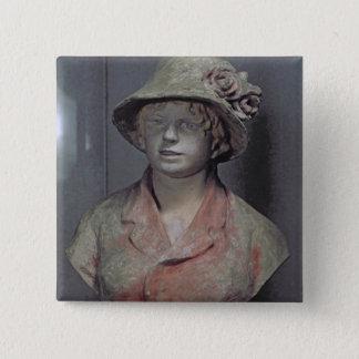 Madame Renoir, 1916 (polychrome plaster) Pinback Button