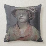 Madame Renoir, 1916 (polychrome plaster) Throw Pillow