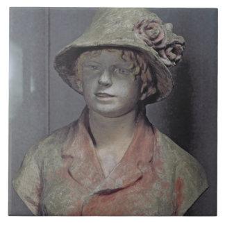 Madame Renoir, 1916 (polychrome plaster) Tile