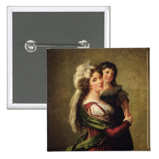Madame Rousseau and her Daughter, 1789 Button