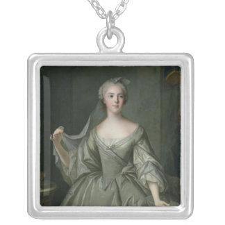 Madame Sophie de France  as a Vestal Virgin Square Pendant Necklace