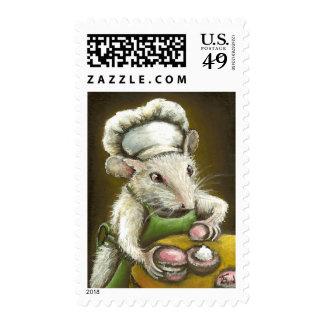 Madame Souris - une pâtissière Provençale Postage Stamps