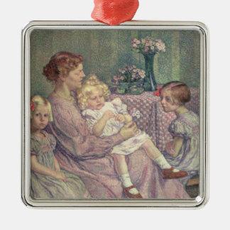 Madame van de Velde and her Children, 1903 Metal Ornament