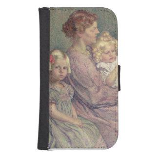 Madame van de Velde and her Children, 1903 Wallet Phone Case For Samsung Galaxy S4