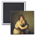 Madame Vigee-Lebrun and her Daughter 2 Inch Square Magnet