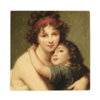 Madame Vigee-Lebrun and her Daughter 2 Wood Coaster