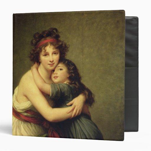 Madame Vigee-Lebrun and her Daughter 3 Ring Binder