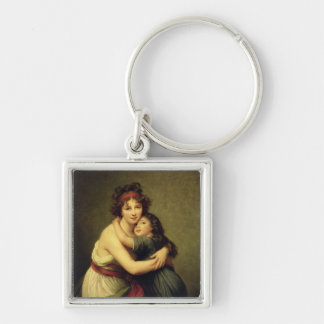 Madame Vigee-Lebrun and her Daughter Keychain