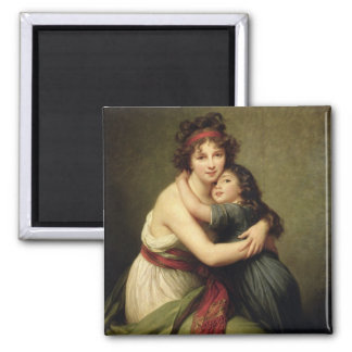 Madame Vigee-Lebrun and her Daughter Fridge Magnet