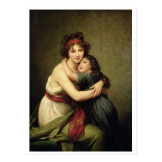 Madame Vigee-Lebrun and her Daughter Postcard