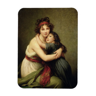 Madame Vigee-Lebrun and her Daughter Rectangular Magnets