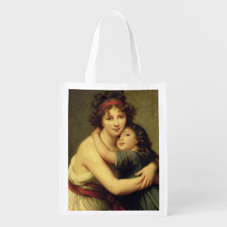 Madame Vigee-Lebrun and her Daughter Reusable Grocery Bag
