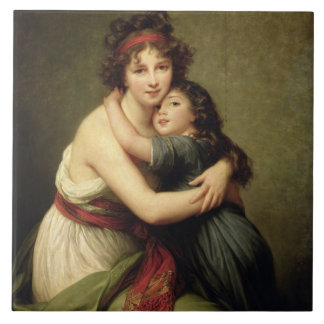Madame Vigee-Lebrun and her Daughter Tile