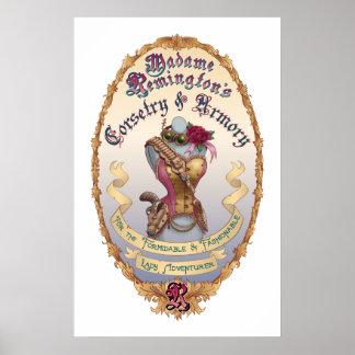 MadameRemington's Corsetry & Armory Poster