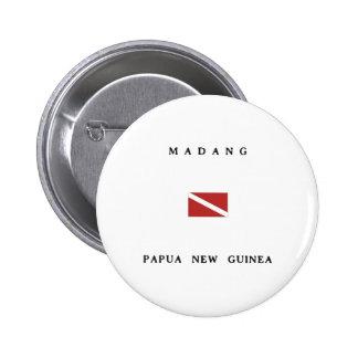 Madang Papua New Guinea Scuba Dive Flag Button