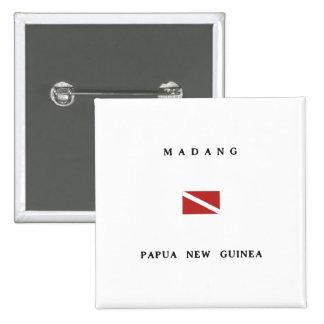 Madang Papua New Guinea Scuba Dive Flag Pinback Button