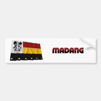 Madang Province Waving Flag Bumper Sticker