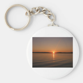 Madawaska Lake Sunset Maine Keychain