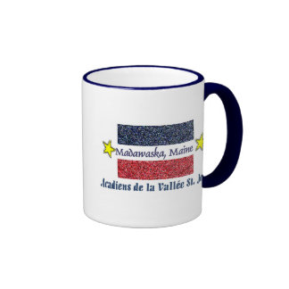 Madawaska Maine Acadien Valee St. Jean Ringer Coffee Mug