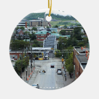 Madawaska Maine Double-Sided Ceramic Round Christmas Ornament