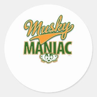 MadBadger MUSKY Classic Round Sticker