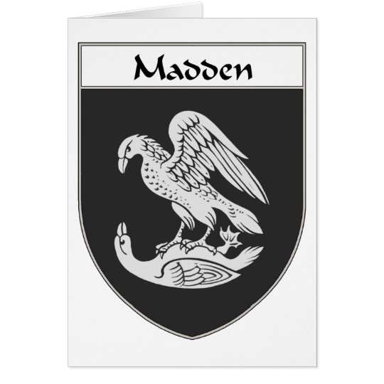 Madden Coat of Arms/Family Crest Card