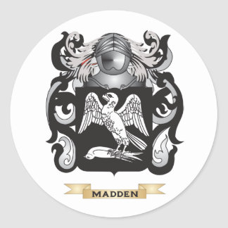 Madden Coat of Arms (Family Crest) Classic Round Sticker