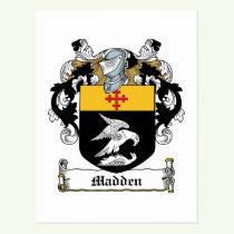 Madden Family Crest Postcard