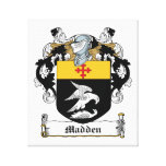 Madden Family Crest Stretched Canvas Prints