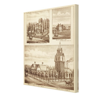 Madden residence, Water Works Canvas Print