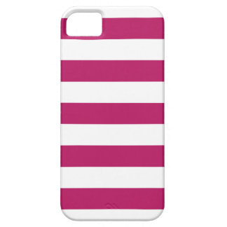 Madder Carmine Stripes Pattern iPhone 5 Case