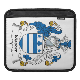 Madder Family Crest iPad Sleeves