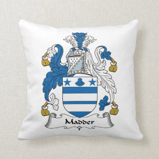 Madder Family Crest Throw Pillows
