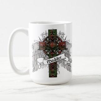 Madder Tartan Cross Classic White Coffee Mug