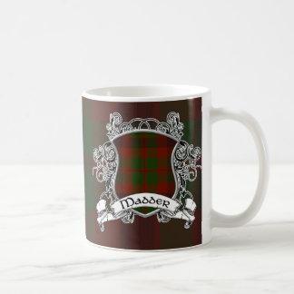 Madder Tartan Shield Classic White Coffee Mug