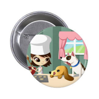 Maddi and the Hungry Pups 2 Inch Round Button