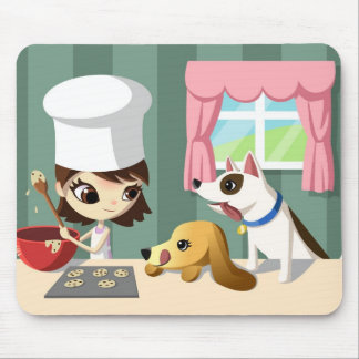 Maddi and the Hungry Pups Mouse Pad