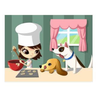 Maddi and the Hungry Pups Postcard