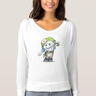 MADDI BELLA CANVAS SHIRT LONG SLEEVE MONSTER