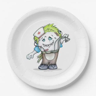 MADDI CUSTOM PAPER PLATE 9 INCHES MONSTER