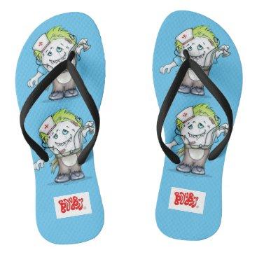 Beach Themed MADDI DOCTOR NURSE ADULT Flip Flops Monsters