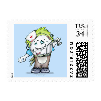 "MADDI MONSTER POSTAGE STAMP Small, 1.8"" x 1.3"""