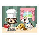Maddi y los perritos hambrientos postal